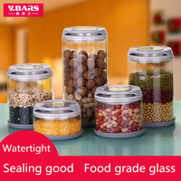 Food Grade Glass Canister Grains Storage Tank Bottle Milk Powder Food Storage Large Pot Sealing Good