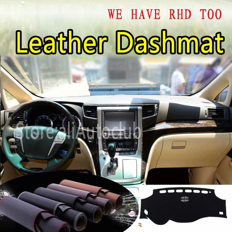 For Toyota Alphard Vellfire AH20 2009-2015 Leather Dashmat Dashboard Cover Dash Mat SunShade Carpet Custom Car Styling LHD+RHD