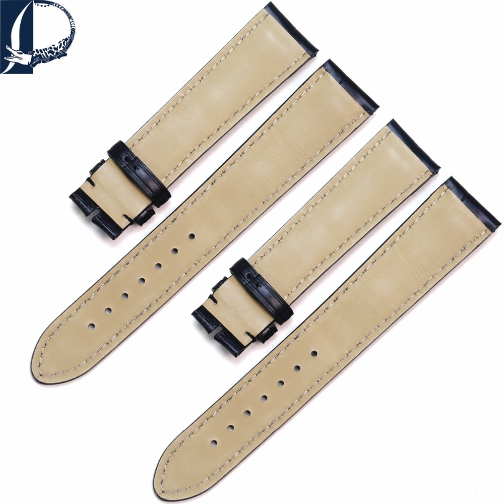 b460c7cf5e4 Pesno Suitable for Montblanc Crocodile Leather Calf Skin Leather Watch  Strap Alligator Skin Watch Strap Men Watch Accessories-in Watchbands from  Watches on ...
