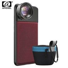 APEXEL Pro Series 50mm Lente Macro 10x Super Macro Lentes Da Câmera Do Telefone Com 17mm Fio Caixa Do Telefone Para iPhone x xs max Huawei P20