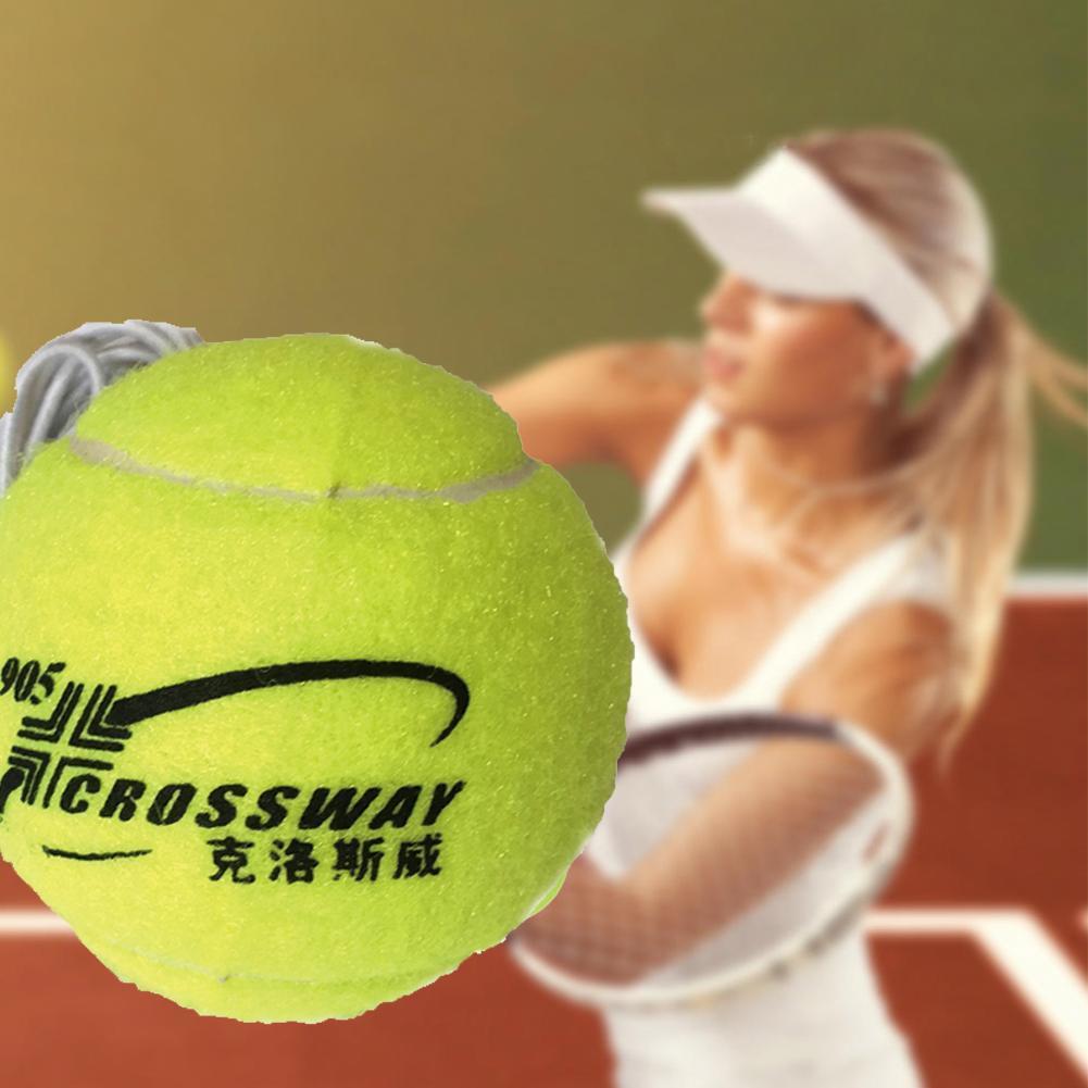1 Piece  Professional  Beginner Training Practice Rebound Tennis Ball With 3.8m Elastic Rope Rubber Ball Training Machine