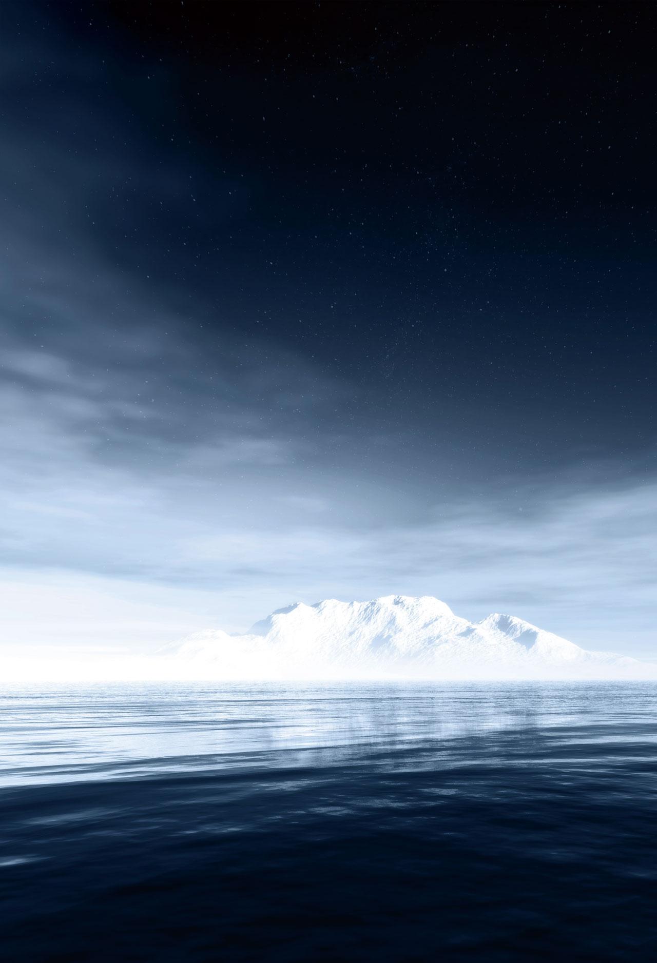 Kate Paesaggio Del Mare Fondali Fotografia Bianco Islanda Mare Blu