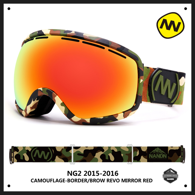 58846463cba NANDN Big Spherical Men Women Snowboard Sports Ski Goggles Double Lens Anti- fog Professional Ski