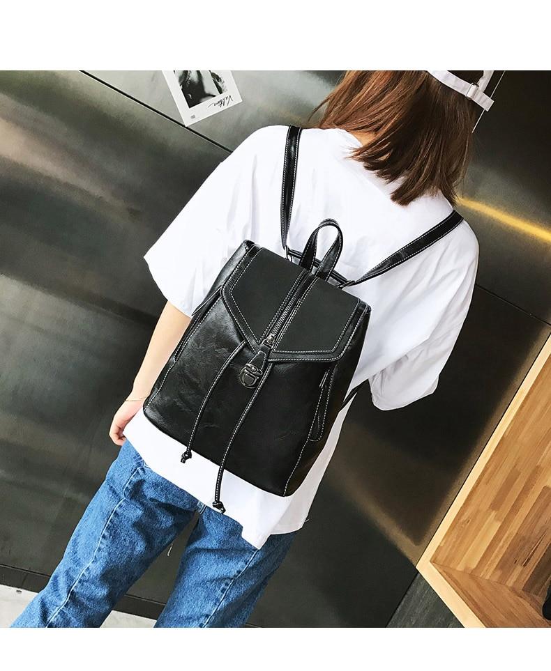 HTB1KBLUbUGF3KVjSZFmq6zqPXXac Vintage Matte Leather Women Backpacks High Quality Multifunctional Shoulder Bag Female Girls Backpack Retro Schoolbag XA533H