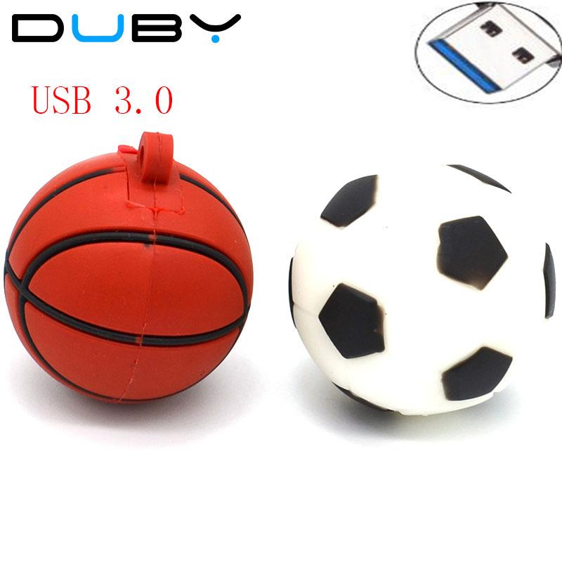 Basquete futebol dos desenhos animados usb flash drive USB 3.0 de silicone  esportes com bola Pen drive dispositivo de armazenamento pendrivs 4g 8g 16g  32g U ... dd613096334e3