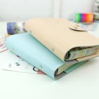 Harphia A5 A6 Vigorous Planners Travel Journal Refillable Spiral Loose Leaf Notebook dokibook filofax agenda vintage PU leather
