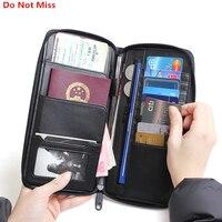 Do Not Miss Travel Passport Wallet Case Women Passport Cover Multifunction Waterproof Men Passport Bag Leather