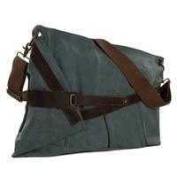 Retro Canvas Leather Messenger Bag Crossbody Bag Shoulder Bag Satchel Bag 6225