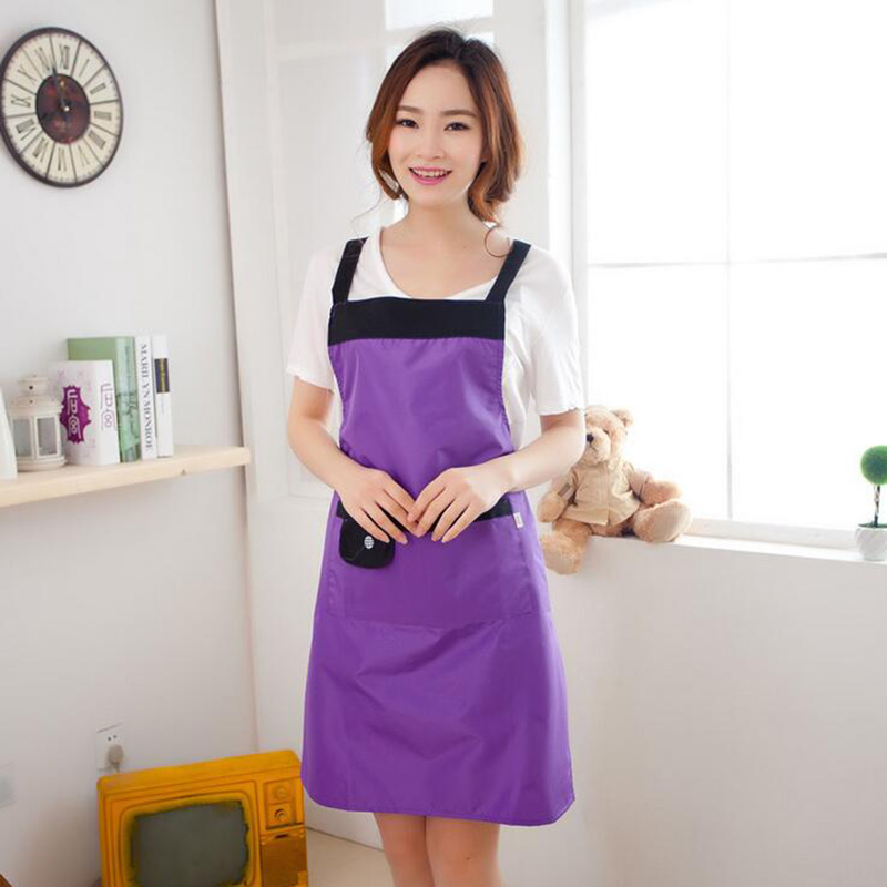 Pure Waterproof Oil proof Kitchen Aprons Waterproof Overalls Sleeveless Aprons Home Kitchen Supplies Gifts 6ZA234