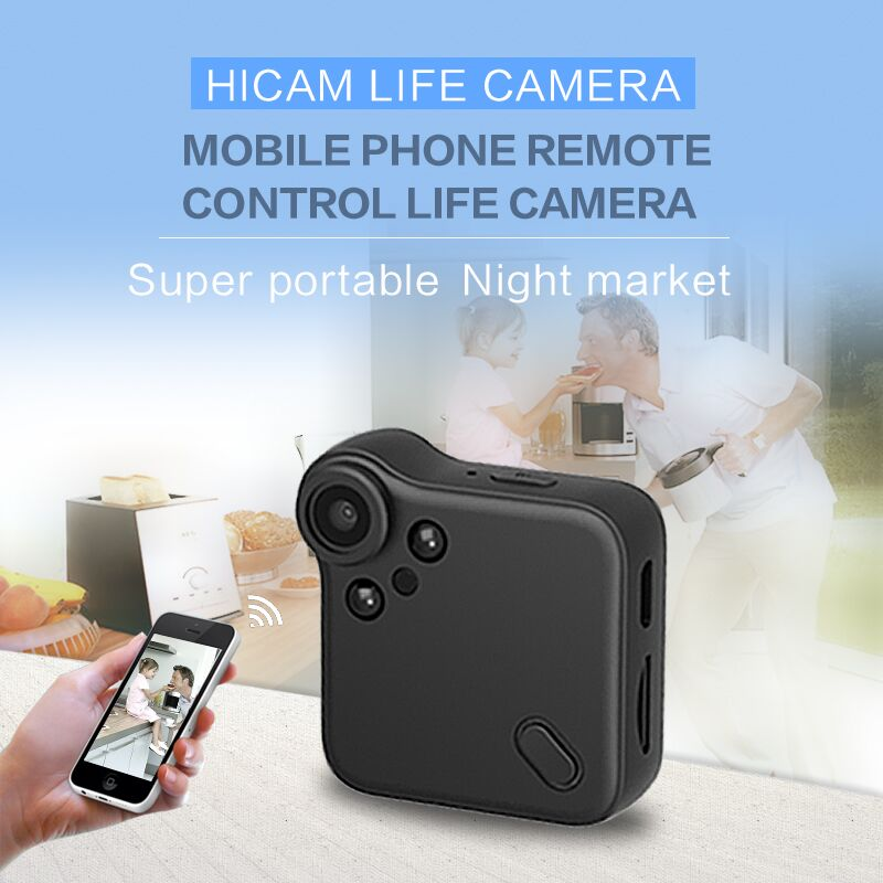 Black Wifi P2P Mini Camera HD 1080P Wearable IP Camera Motion Sensor Bike Body Micro Mini DV DVR Magnetic Clip Voice hd mini dv camera black