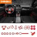 SHINEKA Innenleisten Rot Air Zustand Tasse Halter Getriebe Shift Panel Aufkleber Für Jeep Patriot 11-16/Für jeep Kompass 08-16