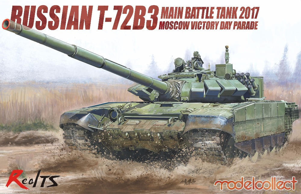 RealTS ModelCollect 1/72 Russian T-72B3 Main Battle Tank 2017 Moscow Victory UA72102