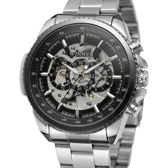WRG8053M4T2 new luxury skeleton Winner Automatic for men watch factory stainless