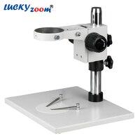 Lucky Zoom Large Stereo Trinocular Microscope Stage Table Stand Microscope Arm 76mm For Binocular Trinocular Microscopio