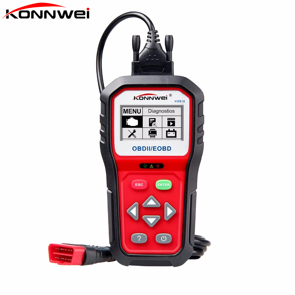 KONNWEI KW818 Auto Diagnostic Tool DIY Code Reader OBD2 Code Scan Tool View Freeze Frame Data Diagnostic-tool OBD II Car Scanner konnwei c mini bluetooth wireless wifi obd ii car auto diagnostic scan tools