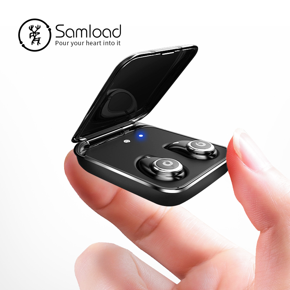 Samload Auricolare Bluetooth Vero Auricolari Senza Fili IPX7 Impermeabile Auricolare Stereo 2000 mah Accumulatori e caricabatterie di riserva di Carica Del Telefono Per il iphone 6 7