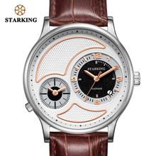 цена на STARKING Original Brand Watch Men sapphire crystal genuine leather 3atm Waterproof Business Men WristWatch Timepieces AM0964