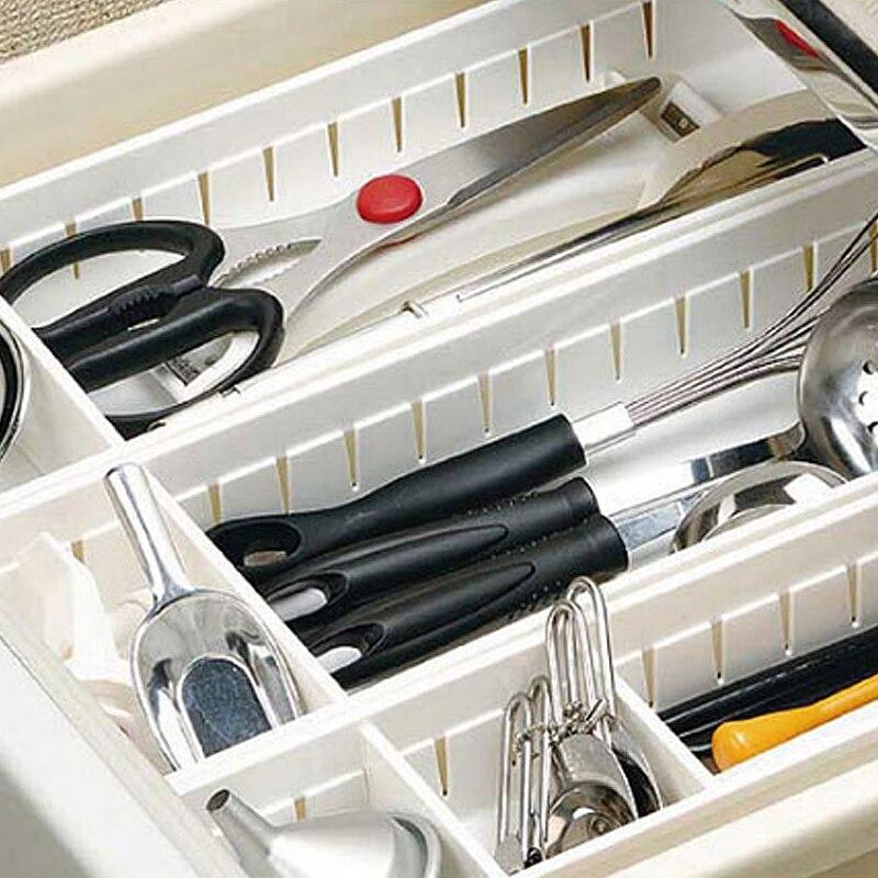 Adjustable Kitchen Drawer Organizer and Kitchen Board Divider for Storage of Kitchen Tools