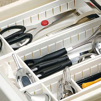 Adjustable Kitchen Drawer Organizer and Kitchen Board Divider for Storage of Kitchen Tools