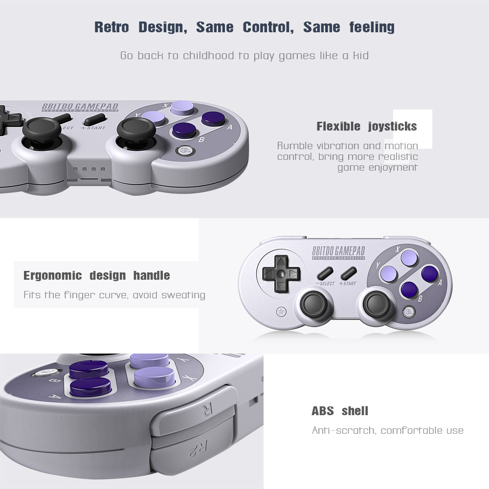 Official 8BitDo SN30 Pro Wireless Bluetooth Gamepad Controller with Joystick for Windows Android macOS Nintendo Switch Steam 15