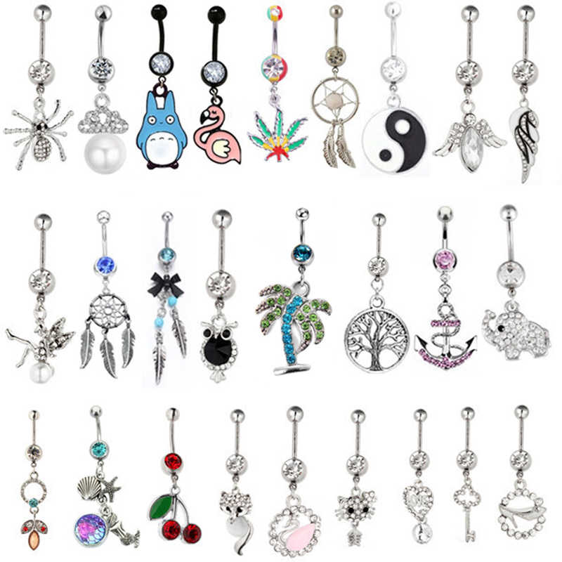 1PC New Arrival Pendant Belly Button Rings Sexy Body Piercing Bars Piercings Navel Piercing Gothic Fine Jewelry Wedding Jewelry