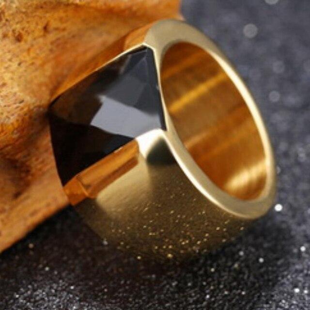Dell'acciaio Inossidabile di modo Anello di Cristallo Femminile Titanio Anello di Nozze per le donne