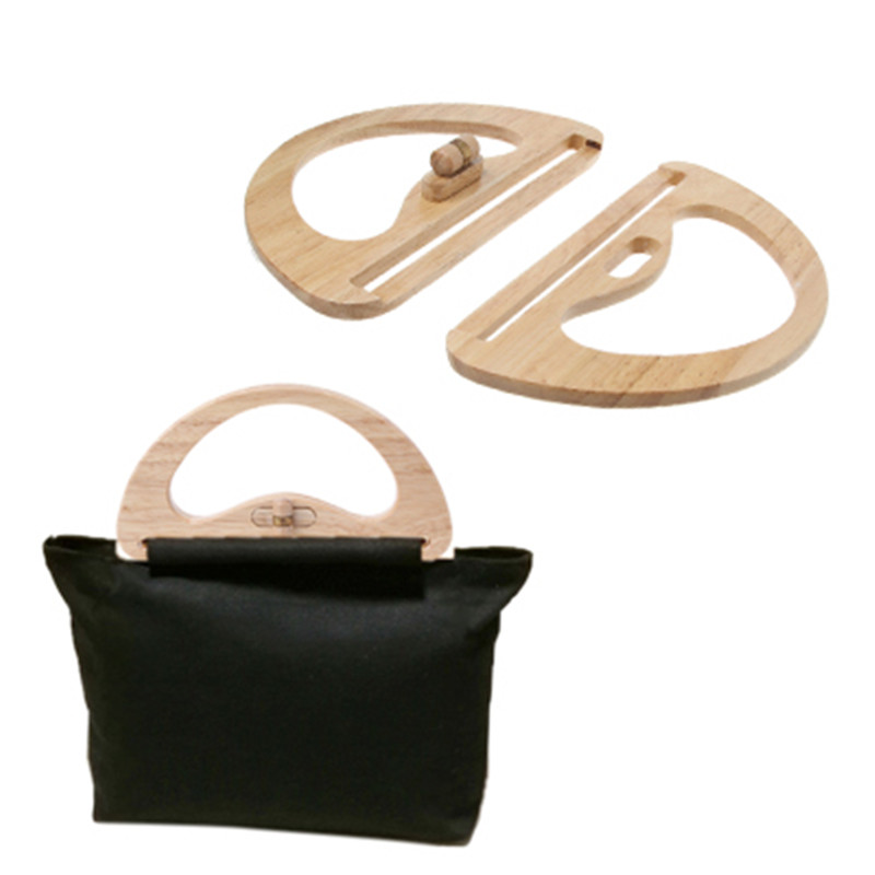 New Bag Accessories Wooden Handbag Bag Handle Replacement Twist Lock for DIY Bags Purse Making THINKTHENDO