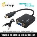 Новая Модель HDMI к VGA КАБЕЛЬ с МИКРОФОНОМ для Orange PI Завод Высокое Качество На Складе, работа с Экрана Монитора до 720 P