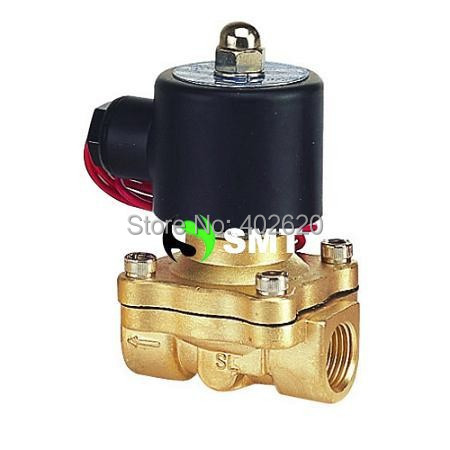 Free Shipping,  3/4'' Brass Solenoid Valve Normally Closed Water Air Oil 2W200-20 NBR DC12V DC24V AC110V AC220V AC380V free shipping brass solenoid valve 2w400 40k12v 1 2 2position 2way normally closed for water air oil 2015