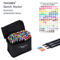 Touchnew 168 Colors Set Artist Dual Head Sketch Copic Markers Set For Eco Friendly School Supplies