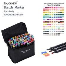 Touchnew 168 Цвета набор художник Dual Head эскиз Маркеры Набор для Экологичные школьные принадлежности маркером Дизайн маркер