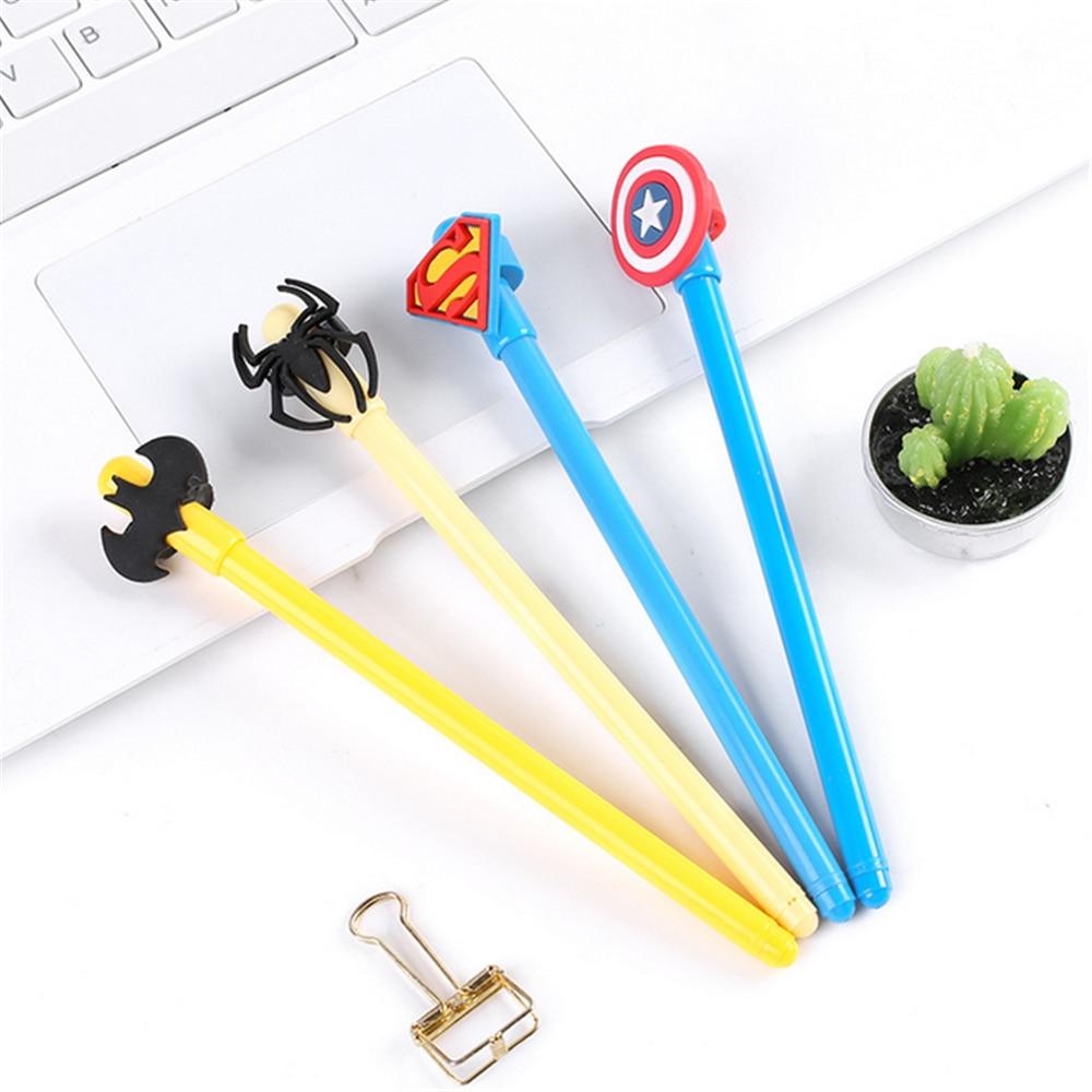 TOMTOSH 0.38MM Hero Alliance Series Gel Ink pen / Superman pen / ball pen / student supplies