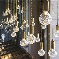 Personality crystal Loft industrial chandelier corridor bar clothing store crystal LED hanging lamp indoor deco lighting