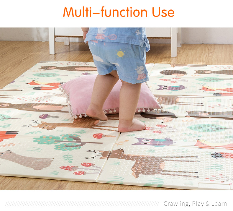 HTB1KBOQcCSD3KVjSZFKq6z10VXa5 Infant Shining Baby Play Mat Xpe Puzzle Children's Mat Thickened Tapete Infantil Baby Room Crawling Pad Folding Mat Baby Carpet