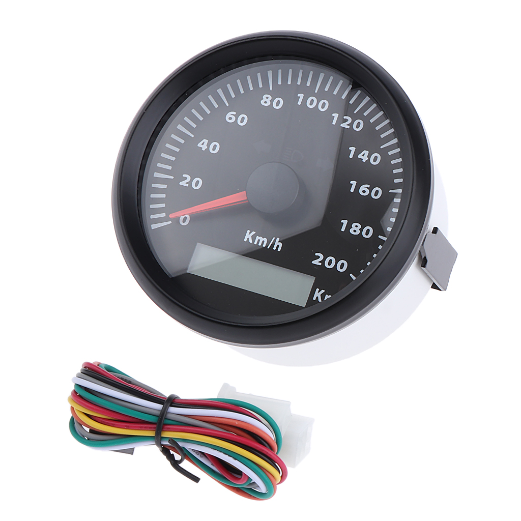 85 milímetros Car Odômetro velocímetro 200 kmh