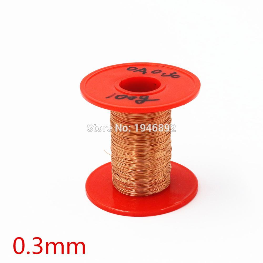 цена на New Arrivals 0.3mm 100g/pcs QA-1-155 Copper Wire/Red Enameled copper wire Straight Welding,Free Scraping Paint