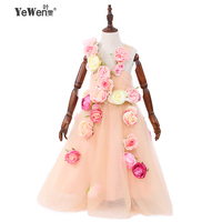 Flower little flower girls dress for weddings Baby Party frocks sexy children images Dress kids prom dresses evening gowns 2018