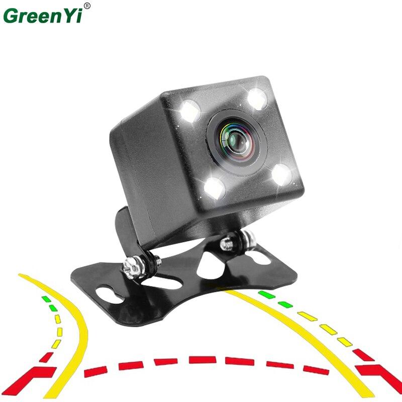 GreenYi inteligente trayectoria dinámica Tracks HD CCD Cámara del revés de copia de seguridad cámara de visión trasera Auto estacionamiento asistencia