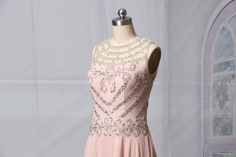 Ροζ ασημένια φορέματα A-line 2017 Αμάνικο - Ειδικές φορέματα περίπτωσης - Φωτογραφία 4