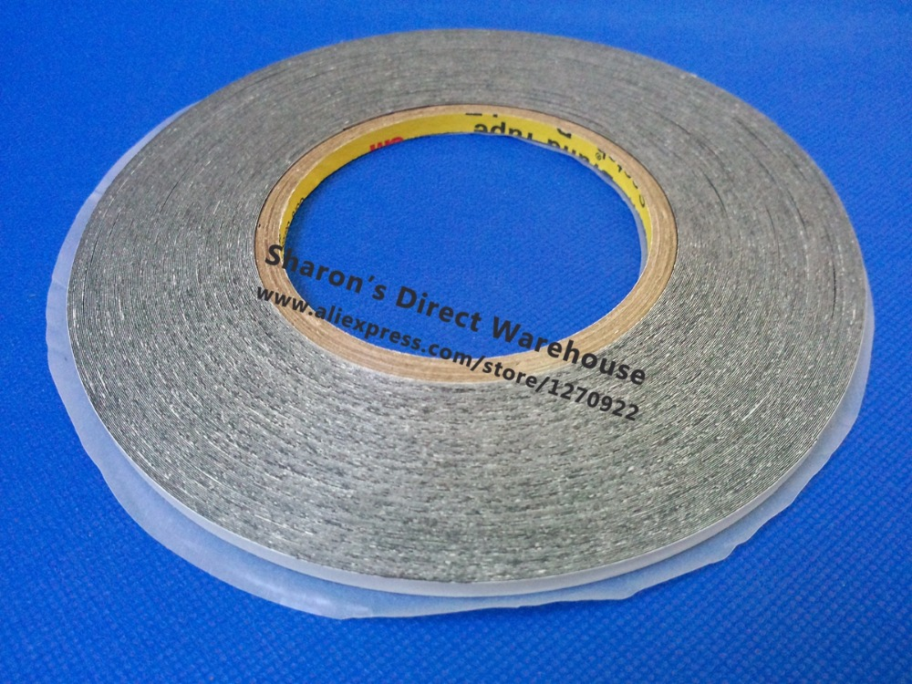 5mm * 50 meters 3M 9448 Double Sided Adhesive Tape Sticky for Phone LCD Touch Panel Display Screen Repair /Logo Adhesive 50 meters roll 0 2mm thick 2mm 50mm choose super strong adhesive double sided sticky tape for cellphone tablet case screen