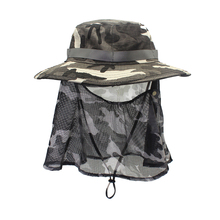 1pc Anti-mosquito Camouflage Caps Breathable Sunscreen Fishing Reusable for Hiking Use (Dark Grey Camouflage)