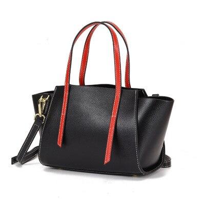 Femmes nouveauté couleur bloc trapèze sac femme split cuir ailes une épaule sac à bandoulière dame élégant comutting fourre-tout sac à main