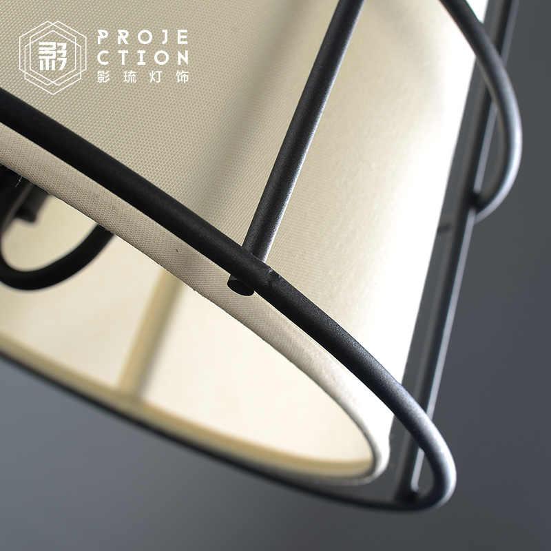 Ретро американский кантри Лофт бар железа творческая личность Ресторан промышленный подвесной светильник тканевый абажур