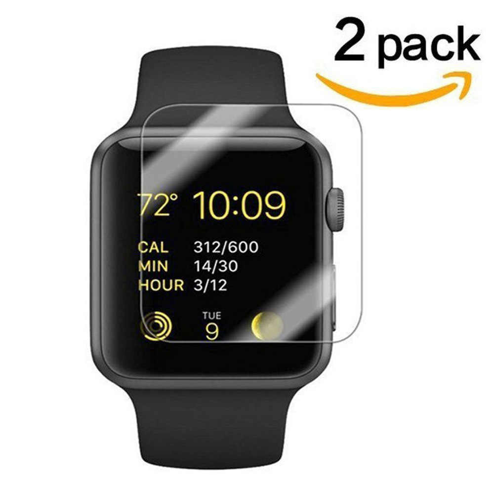 2.5D 9H Curved Edge Tempered Glass for Apple Watch 38 42mm Screen Protector 2PCS for Apple Watch 4 3 2 1 Series Tempered Glass