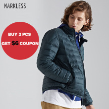 Markless Unisex 90% White Duck Down Jacket Brand Clothing Ultralight Down Coat Slim Fit Winter Warm Down Jackets