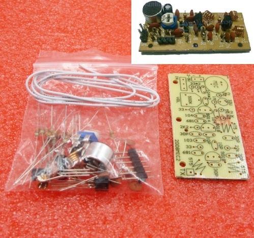 DC 1.5V 9V FM Kit de bricolage micro sans fil pièces de bricolage pour Kits dapprentissage électronique 80MHz 108MHz
