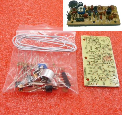 DC 1.5V-9V FM Wireless Microphone DIY Kit DIY Parts For Electronic Learning Kits 80MHz-108MHz