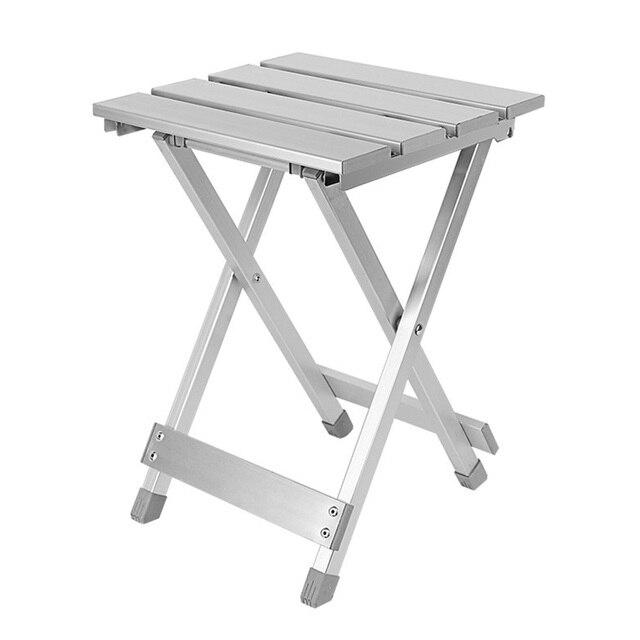 Wygodny składany stołek Camping wysoka intensywność odporna na zarysowania stopu aluminium oszczędność miejsca przenośne krzesło zewnątrz antypoślizgowe