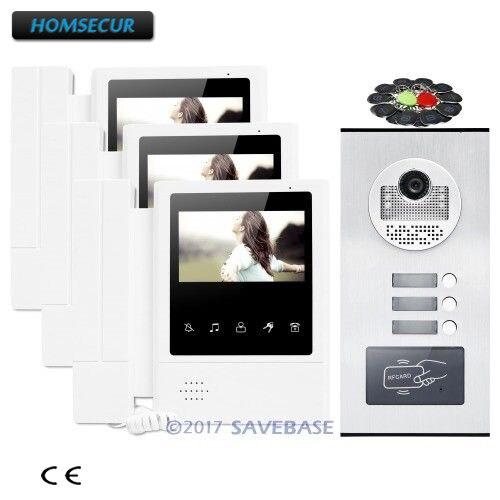 HOMSECUR 4,3 Квартира видео звонок внутренней безопасности с немым монитор для дома/без каблука