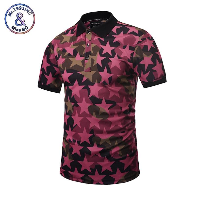 Mr.1991INC 2018 New Fashion Men   Polo   Shirts Full Print Pentagram Shirts 3d Summer Tops   Polo   Shirts